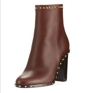 Valentino Soul Stud Leather Bootie
